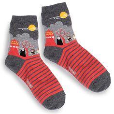 cb98fb4d3b Japanese Movie Prints Socks (Pack of 4 Pairs) VJ  Amazon.co.