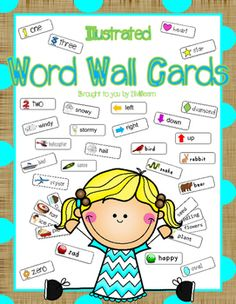 Illustrated Word Wall CardsHelp your students learn and use vocabulary words with these illustrated word cards.  Included are 512 picture cards and 208 Dolch word cards for a total of 720 cards! This resource has: 12 Color Cards, 4 Direction Cards, 12 Number Cards,20 Shape Cards, 20 Math Cards, 28 Sports Cards,12 Breakfast Cards, 4 Utensils Cards, 4 Drinks Cards,12 Lunch Cards, 4 Desert Cards, 12 Farm Cards,20 Animal Cards, 8 Bug Cards, 8 Sea Animal Cards,28 Life Cycle Cards, 8 Family…