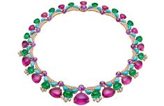 Bulgari Diva high-jewellery emerald and turquoise necklace