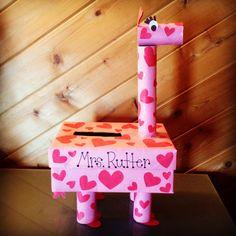 Giraffe Valentine Card Box...for kyleigh this year!