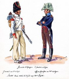 French; 65th Line Infantry, Grenadier & 105th Line Infantry, Chef de Musique in Spain