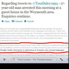 So glad Riley was delivered justice, making fun of Tom Daley. Toms great! And he made fun of someone I know with cancer :(