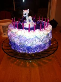 My Little Pony Rarity Cake by raczow