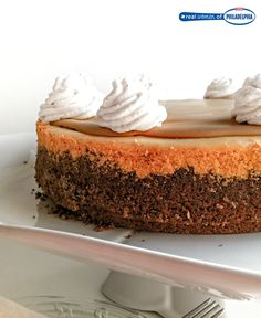 Want a reason to eat cookies and cheesecake at the same time? Then take a bite out of Real Women of Philadelphia member Leigh Ann's Cookie Butter Cheesecake made with a spiced crumb crust and topped with a creamy cookie butter layer. #recipe #dessert