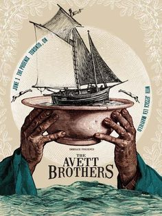 The Avett Brothers - gig poster