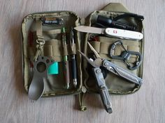 Tools in a Maxpedition pocket Organizer