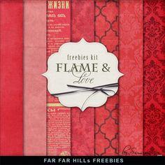 Far Far Hill: New Freebies Kit - Flame & Love