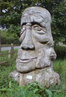 Big Head by Ben Platts-Mills One of the leaflets in our current campsite's information pack, Cycling Around Eye , detailed two cycle ro. Garden Statues, Garden Sculpture, Lion Sculpture, Britain, Cycling, Tours, Eyes, Stone, Big