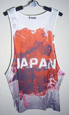 933130f607c Items similar to Japanese Flag Shirt Tank Top Men Japanese Clothing Flag  Shirt Art Print Gift For Men Athletic Shirts Mens Gift Men T-shirts on Etsy