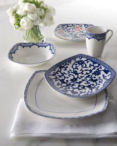 """Four-Piece """"Mandarin"""" Dinnerware Place Setting by Lauren Ralph Lauren at Horchow."""