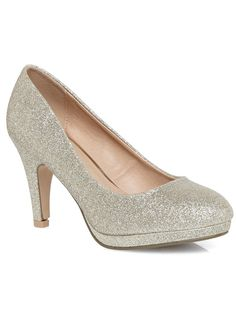 4c5bd2ee2c1 platform silver glitter shoes from Evans online UK site for about  40  Silver Glitter Shoes