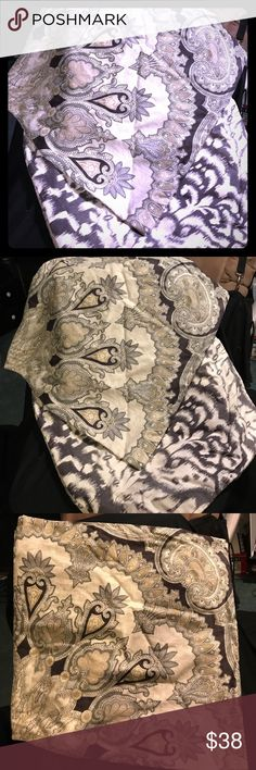 """Pottery Barn Valencia Paisley Pillow Covers Pottery Barn Valencia Paisley Pillow Covers.  The intricate, fine-line patterns of this exquisite paisley are based on the design of a Victorian silk scarf from the 1860s. Beautifully rendered in a play of rich and neutral tones, this pillow cover creates a chic presence anywhere in the room. DETAILS YOU'LL APPRECIATE 18"""" square Made of cotton/linen blend. Reverses to ikat design. Zip closure Machine washable Pottery Barn Other"""