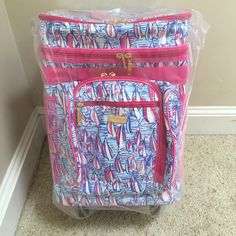 Lilly Pulitzer Red Right Return Rolling Cooler new New with tags Lilly Pulitzer Accessories Watches