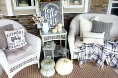 The Glam Farmhouse neutral Fall Front Porch