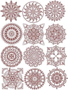 Advanced Embroidery Designs - Quilt Block Set IV