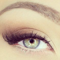 neutral eyeshadow; some contouring on the outer edge of the eye; full lashes (brown mascara for a more natural look) and instead of brown eyeliner, maybe a teal to match our dresses? :P or if you want to keep it brown and neutral, thats perfectly classic too!