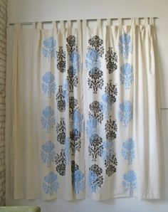 printmaking on curtains