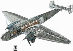 Junkers Ju.86B - пассажирский самолет, 1934 год (Германия)
