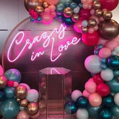 Crazy In Love LED neon sign for sale from Custom Neon! This wedding photo booth sign is a picture perfect decoration for engagement parties, weddings and anniversaries. Neon Signs For Sale, Custom Neon Signs, Led Neon Signs, Love Neon Sign, Love Signs, Neon Light Signs, Balloon Decorations, Aisle Decorations, Neon Lighting