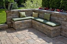 Stonehenge with Brussels Dimensional Seat Wall Corner Seating, Wall Seating, Wall Bench, Corner Bench, Garden Seating, Outdoor Seating, Outdoor Decor, Deck Seating, Extra Seating