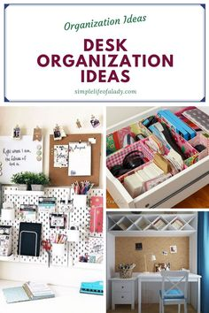 how to organize your desk