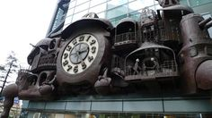 Like some steam punk architecture in an imaginary land far away, the NTV Daitokei literally seems to have stuck itself onto the pedestrian glass of the headquarters of the broadcaster.  Developed by Ghibli's Hayao Miyazaki (yes, that Hayao Miyazaki), it is possibly the largest automaton clock in the world.
