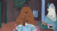 Image result for we bare bears ice bear gif