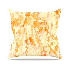 "CarolLynn Tice ""Explosion"" Orange Throw Pillow"