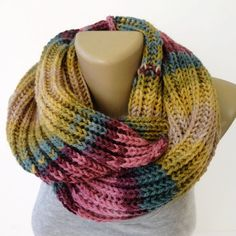 Valentines Day Gift ,fashion knitted scarf ,winter . infinity scarf ,unisex ,women , men . eternity . circle . loop scarf , gift ideas