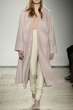 Long Powder Pink Woolen Coat - #MilanFashionWeek in #PreO: tap link in bio to be a @Genny Official woman and #Preorder its #AW16 collection right now!