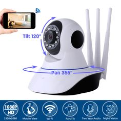 Video Surveillance Popular Brand Bfmore 1080p 360 Degree Full-hd Wireless Wifi Ptz Ip Camera Fish Eye Wide Angles 2.0mp Baby Care 128g Storage Audio Motion App A Wide Selection Of Colours And Designs Baby Monitors