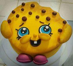 """Shopkins """"Kooky Cookie"""" fondant cake!"""