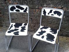 Mooooo! Cow chairs!