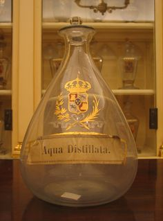 'Aqua distillata' (Distilled water) in the Real Farmacia in Madrid.