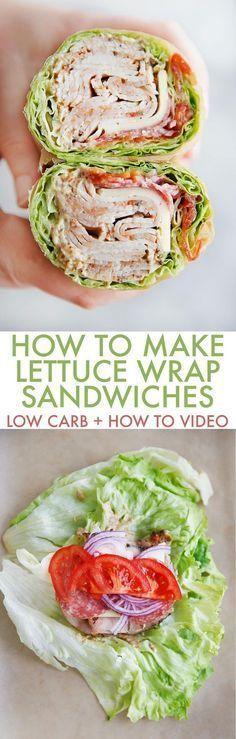 How to Make a Lettuce Wrap Sandwich (Low Carb) - Lexi's Clean Kitchen #lettucewrap #keto #sandwich #glutenfree #paleo