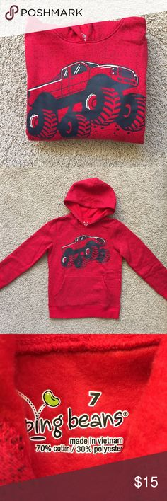 Monster Truck Hoody Warm inner lining. New with tag. Shirts & Tops Sweatshirts & Hoodies