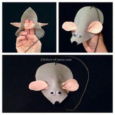 preschool craft: mouse puppet.: