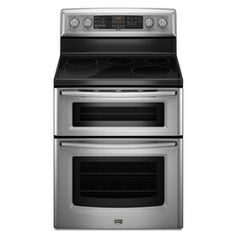 charming ideas double ovens lowes. Maytag Smooth Surface ft Self Cleaning Double Oven Convection Electric  Range Stainless Steel at Lowe s This stainless steel double oven electric range KitchenAid Also comes in Dual Fuel Gas