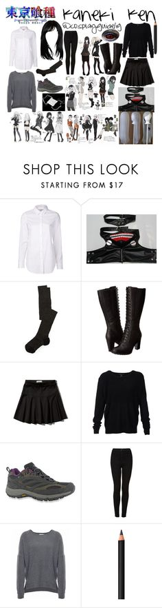 """Fem!Kaneki Ken Tokyo Ghoul cosplay"" by consultingpolyvorer ❤ liked on Polyvore featuring Closed, INC International Concepts, Missoni, Timberland, Abercrombie & Fitch, Scoop, HI-TEC, Topshop, Velvet and INIKA"
