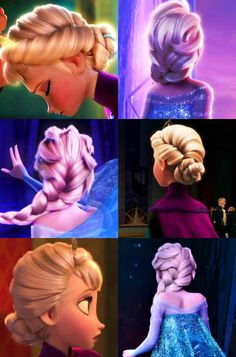 Elsa's hair, I read that her hair took more animating then Rapunzel's