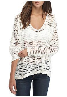 Free People Napa Oversized Mesh Tee