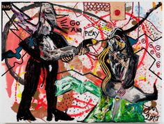 "Bernier/Eliades Gallery | Jonathan Meese | ""ACHTUNG: KILLERNILL-RUM UND RUM-NEDDY-CASHY PIMMELN RUM"", 2011 