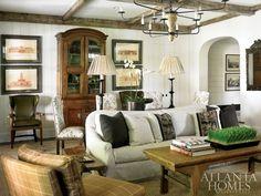 Buckhead family room by Betty Burgess. Atlanta Homes & Lifestyles.
