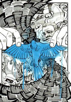 Bluebird by Yumochka.deviantart.com on @deviantART