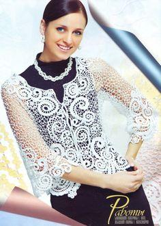 crochet beauty sweater pattern: lace crchet   make handmade, crochet, craft
