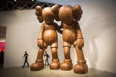 'Along the Way,' by the Brooklyn-based artist known as KAWS, seen at the Mary Boone...