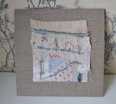 ARTWORK textile ORIGINAL : antique fabrics with hand embroidery - Home by hensteeth on Etsy