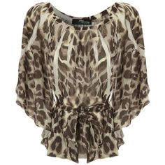 Leopard Print Sublimation Top ($19) ❤ liked on Polyvore featuring tops, blouses, shirts, blusas, animal print blouse, jane norman top, leopard print shirt, leopard shirt and brown tops