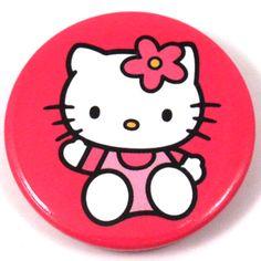 Hello Kitty Button Badge  Waving