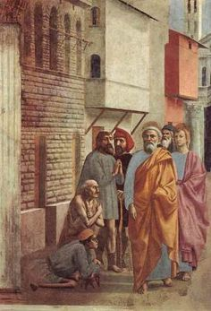 Masaccio St. Peter healing with his shadow